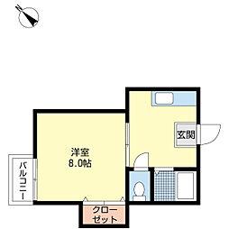 新潟県新潟市中央区学校町通2番町の賃貸アパートの間取り
