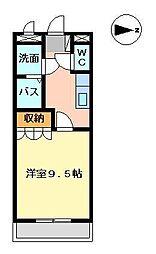 メルヴェーユ宮崎[101号室]の間取り