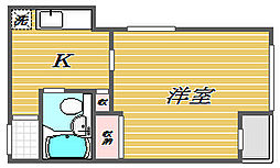 東京都北区赤羽北2丁目の賃貸マンションの間取り