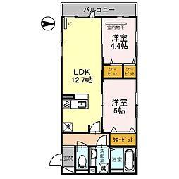 (仮称)D-room北三国ヶ丘8丁[2階]の間取り