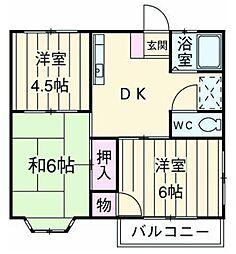 ルミエール湘南・ステージ4[102号室]の間取り
