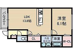 シエスタ千里丘[1階]の間取り