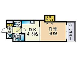 クロスステージ大濠[1階]の間取り