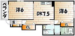 エヴァーグリーンL[1階]の間取り