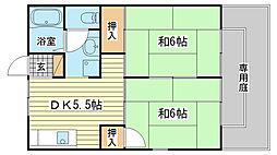 メゾンT2 A棟[201号室]の間取り