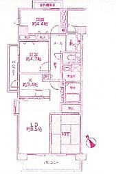 コーポレート鷺沼[3階]の間取り