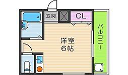 大阪府大阪市阿倍野区丸山通2丁目の賃貸マンションの間取り