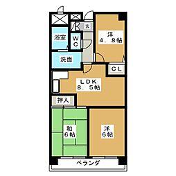 エスポワール八事[4階]の間取り