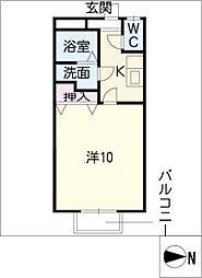 窪田コーポ神戸[1階]の間取り