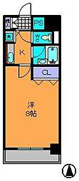 奈良県生駒市東新町の賃貸マンションの間取り