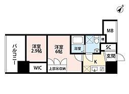 セレニテ福島scelto(シェルト)[2階]の間取り