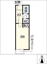 カーサローマ[1階]の間取り