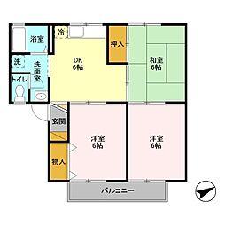 メゾンエスポワールA[1階]の間取り