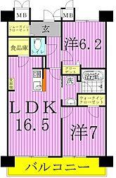 ロイヤルパークス西新井[11階]の間取り