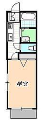 シャトレ橋本[1階]の間取り
