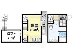 名鉄常滑線 大同町駅 徒歩3分の賃貸アパート 1階1Kの間取り