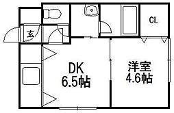 ブランノワール発寒610[402号室]の間取り