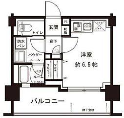 東急東横線 反町駅 徒歩2分の賃貸マンション 4階ワンルームの間取り