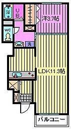 エストメゾン[1階]の間取り