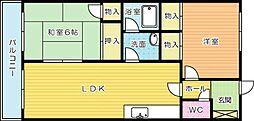 第10岡部ビル[402号室]の間取り
