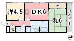 兵庫県姫路市西庄甲の賃貸マンションの間取り
