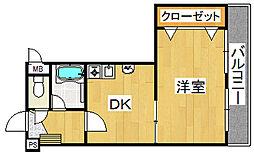 生駒カッレジシティII号棟[2階]の間取り