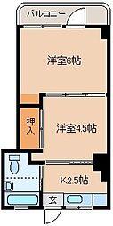 メゾンド秋山[102号室]の間取り