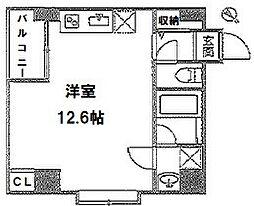 阪東橋新築マンション 仮称 3階ワンルームの間取り