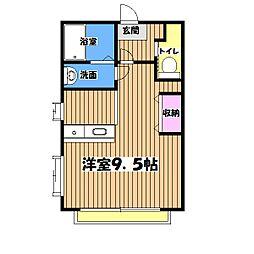 東京都昭島市東町5丁目の賃貸アパートの間取り
