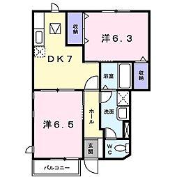 メゾンアヴェニールA[1階]の間取り