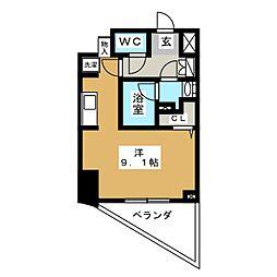 Duo Veel 飯田橋 4階ワンルームの間取り