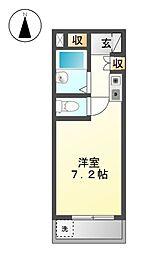 第1シャトー川村[3階]の間取り