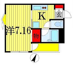 千葉県船橋市宮本6丁目の賃貸マンションの間取り