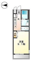 広島県福山市引野町4丁目の賃貸アパートの間取り