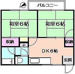 カーサカトー[2階]の間取り