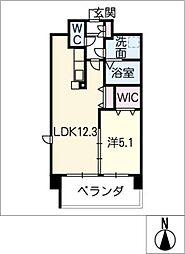 アンジュー VI[4階]の間取り