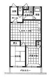 ブリリアン北庄(錦綾小学校区)[1階]の間取り