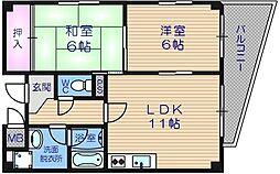 堂ヶ芝一番館[7階]の間取り