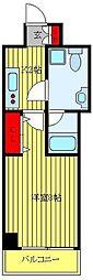 JR高崎線 尾久駅 徒歩3分の賃貸マンション 12階1Kの間取り