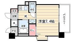 エステムコート京都烏丸3ジャパニズム[2階]の間取り