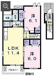 槇の木 サニーハウス2号館[202号室]の間取り