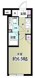 (仮称)AGRATIO目黒本町 3階1Kの間取り