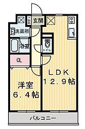 グラシアK[1階]の間取り