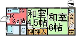 コーポサカエ[1階]の間取り