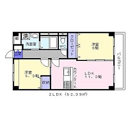 レフィナード2[2階]の間取り