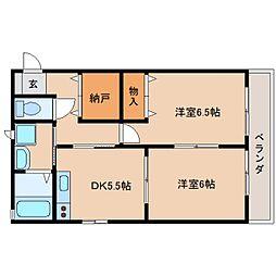 静岡県静岡市清水区高橋3丁目の賃貸アパートの間取り