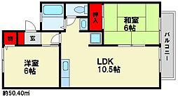 セジュール優[2階]の間取り