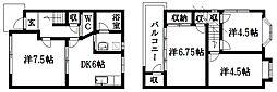 [一戸建] 静岡県浜松市南区三和町 の賃貸【/】の間取り