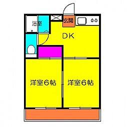 エルベマンション[201号室号室]の間取り