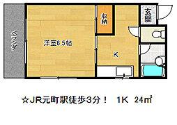 兵庫県神戸市中央区北長狭通3丁目の賃貸マンションの間取り